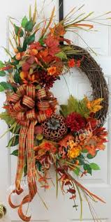Thanksgiving Wreath Craft Fall Grapevine Wreath By Kyong Fall Wreaths Pinterest