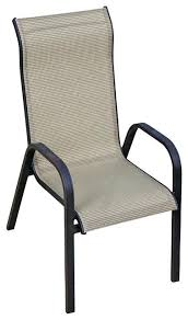 Patio Stack Chairs Sling Patio Chair For Mosaic Oversize Sling Stacking Chair