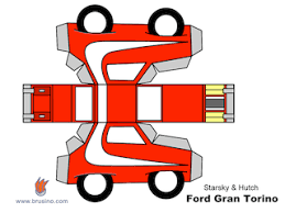 Starsky And Hutch Gran Torino For Sale Starsky U0026 Hutch Ford Gran Torino In Simple Papercraft