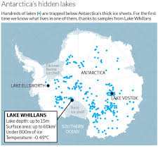Map Of Antarctica First Samples Of Antarctic Lake Reveal Thriving Life New Scientist