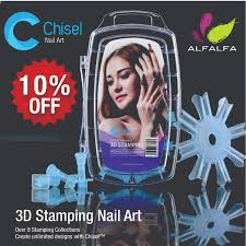 chisel nail art 3d nail stamps