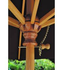 Wood Patio Umbrellas Classic 9 Foot Umbrella Galtech Wood Market Umbrella Frame