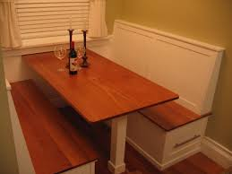 Furniture Wooden Kitchen Table With Booth Seating Combined With - Booth kitchen tables