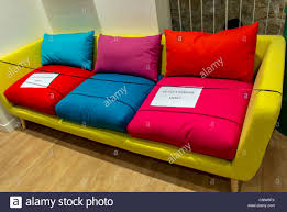 household furniture paris france colorful sofas on display in household furniture