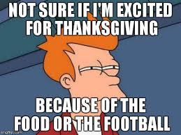 10 thanksgiving day football memes