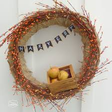 fall wreath ideas burlap fall harvest wreath with mini chalkboard bunting the