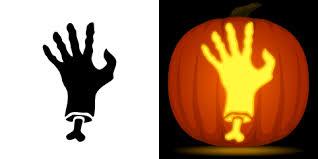 free zombie hand pumpkin stencil