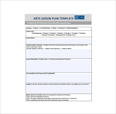 art lesson plan template 3 free word pdf documents download