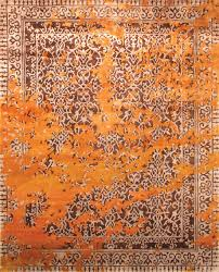 Modern Orange Rugs by Modern Silk Rugs Roselawnlutheran