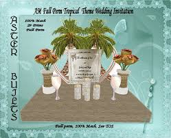 Tropical Theme Wedding - second life marketplace am mesh full perm tropical theme wedding