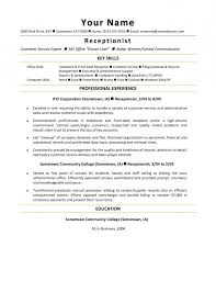 front desk receptionist resume sample resume template example
