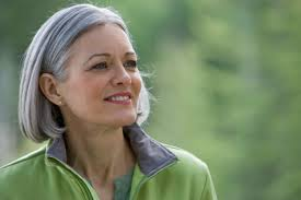 looking with grey hair mature woman with long grey hair looking aside close up who s