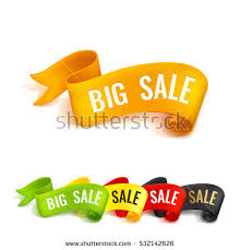 ribbons for sale set colored ribbons big sale realistic stock vector 532142611