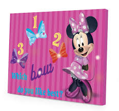 Mickey And Minnie Curtains by Amazon Com Disney Minnie Mouse Led Canvas Wall Art 15 75 Inch X