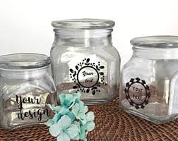 glass canisters for kitchen canister sets etsy