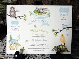 rachael u0027s woodland baby shower