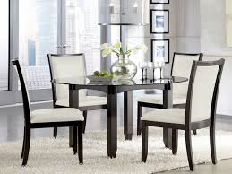 Cheap Black Kitchen Table - dining room round glass table and chairs for sale glass kitchen