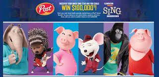 enter the sing movie sweepstakes for a chance to win a 100 000