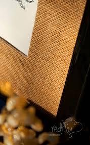 redfly creations diy burlap matting