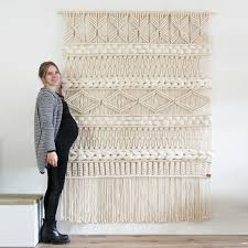 xxl macrame wall hanging macrame curtains macrame wall art zoom