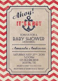 nautical baby shower invitation