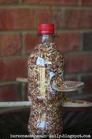 soda bottle bird feeder here comes the sun