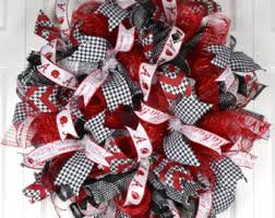 collegiate ribbon 5 50 yards bama black white houndstooth ribbon college ribbon
