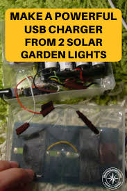 How To Charge Solar Lights - how to make a powerful usb charger from 2 solar garden lights