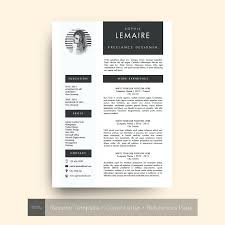 resume resume template iwork 3 pages cover letter references by