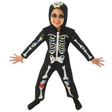 2 3 Halloween Costume Rubies Skeleton Onesie Costume 2 3 Ocado