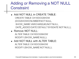 alter table not null data integrity constraints ppt video online download