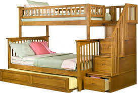 Bedroom Stylish And Perfecto Twin Over Full Bunk Bed With Trundle - Wooden bunk bed with trundle