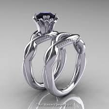 black diamond bridal set wedding ring sets