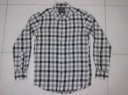 Baju Kemeja Billabong kg laut bundle kemeja flannel uniqlo hitam putih
