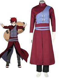 Naruto Halloween Costumes Adults Naruto Shippuden Gaara Red Cosplay Costume Anime Character