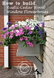 Wooden Window Flower Boxes - serendipity refined blog how to build a diy rustic cedar window