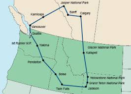 map usa northwest pacific west self drive tours from auto tours usa