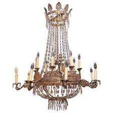 Beaded Wood Chandelier Two Tiered Painted Beaded Wood Chandelier At 1stdibs