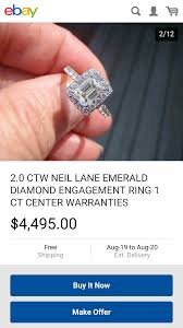 kay jewelers account neil lane emerald cut engagement ring from kay jewelers weddingbee