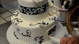 decorate simple elegant wedding cake youtube simple cake