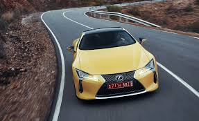 lexus yellow 2018 lexus lc500 yellow test drive front view gallery photo 73 of 84