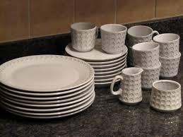 white dishes set the borrowed abodethe borrowed abode
