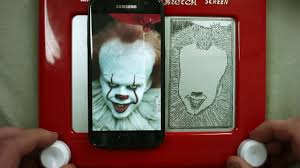 pennywise etch a sketch timelapse youtube
