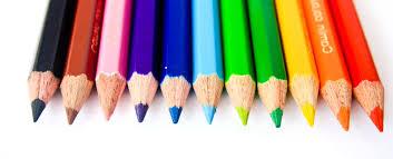 free picture color pencil rainbow crayon education