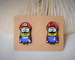 minion earrings minion earrings etsy