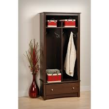 entry bench with coat rack storage useful and attractive entry