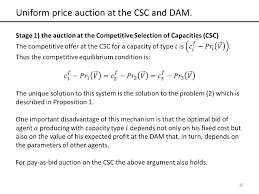 pay to bid auction models for optimal design of capacity and electricity market