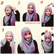 tutorial hijab segi empat paris simple cara memakai hijab segiempat simple dan mudah kiat cantik
