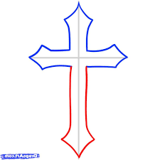 Basic Cross - simple cross drawing drawing gallery