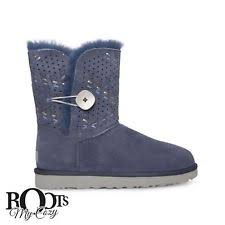 s ugg bailey button ii tehuano boot 9 m navy suede ebay